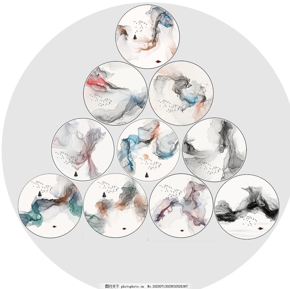 唯美中國風,創意,中國傳統,抽象,水墨風景畫,設計,廣告設計