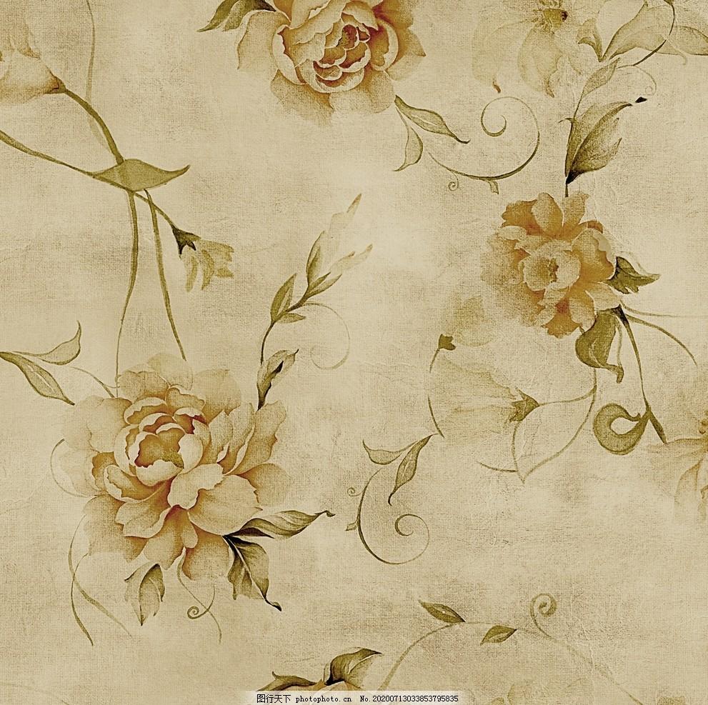 數碼花型,印花,花卉,復古,紙印花,壁紙,壁布