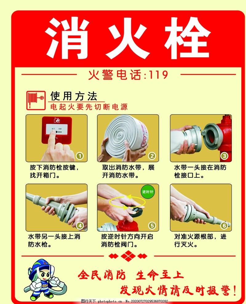 消火栓,消防,消防提示,消防检查,使用方法,安全,消防海报