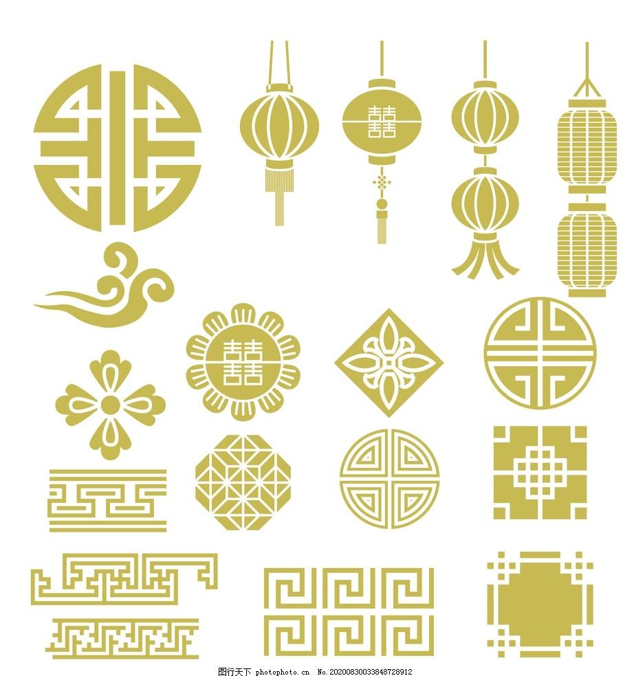 燈籠元素,花邊,邊框,裝飾元素,過節,新年,過年