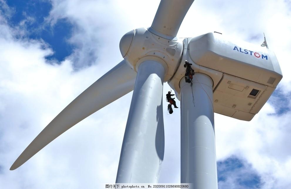 发电,电力,风力,绿色,环保,自然风,风车群