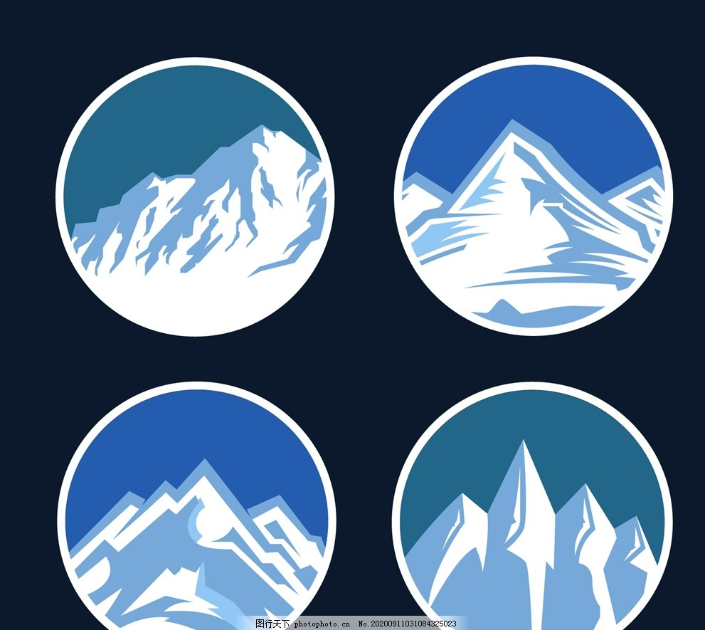 雪山,自然,冬天,降雪,范围,eps,ai