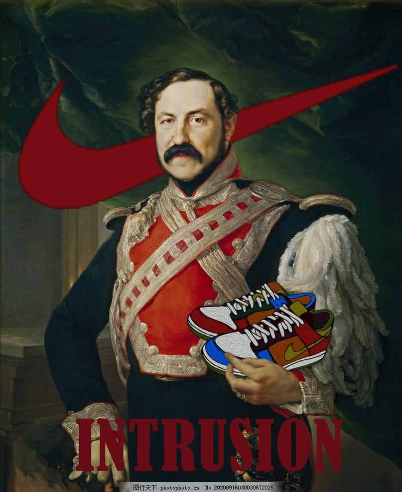 抱著帽子的將軍宮廷油畫裝飾畫,設計靈感,潮流海報,潮流元素,卡通設計,圖片設計,廣告設計
