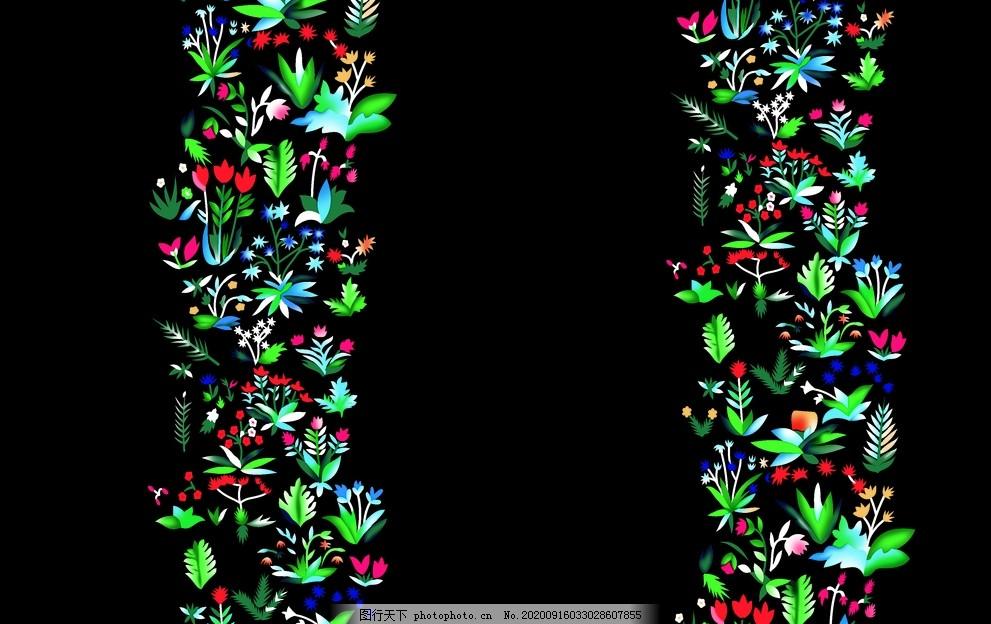 定位印花,抽象印花,数码印花,花朵,碎花,小花,绿叶