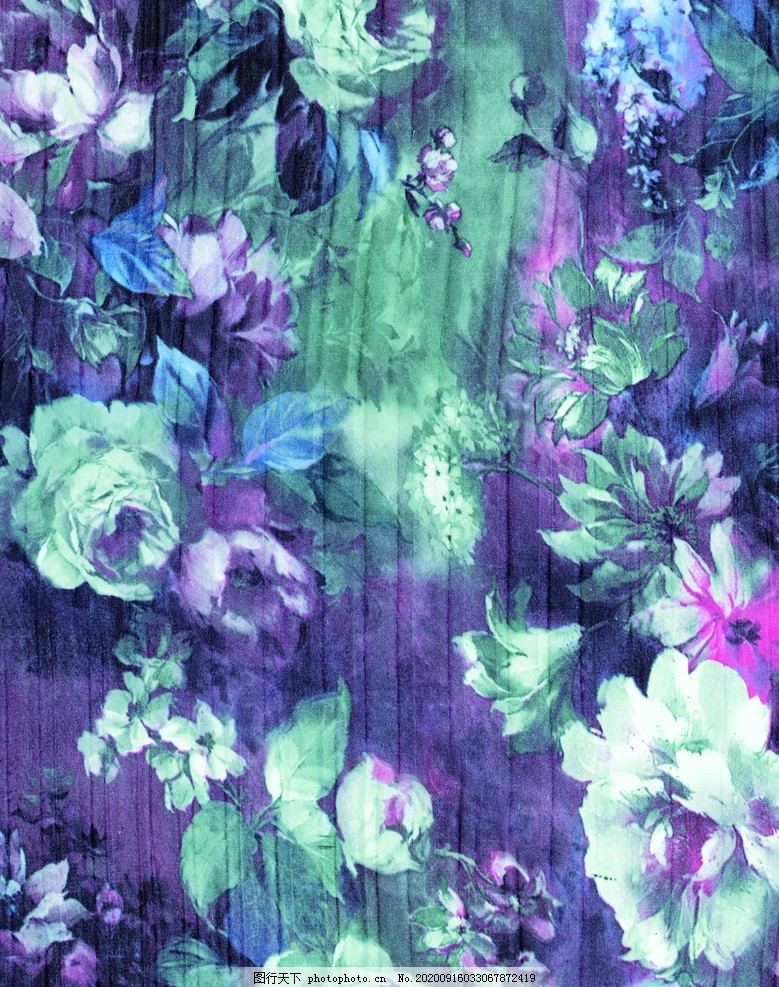 抽象花朵,抽象印花,定位印花,数码印花,大花,玫瑰,牡丹