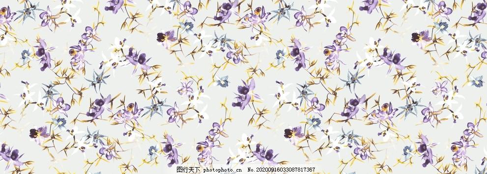 碎花,抽象印花,定位印花,数码印花,花朵,小花,小清新