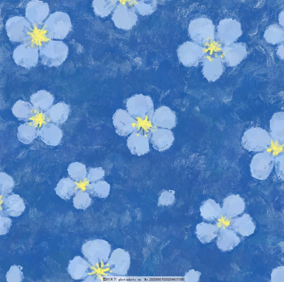花朵底紋,藍色,布料,布紋,設計,底紋邊框,背景底紋