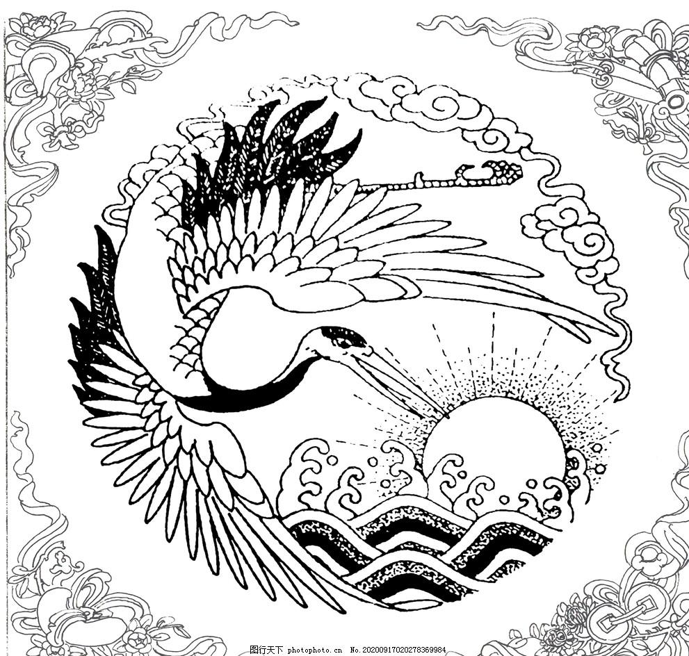 仙鶴透窗,朝霞,背景,紋理,裝飾,石雕,石雕浮雕木雕設計