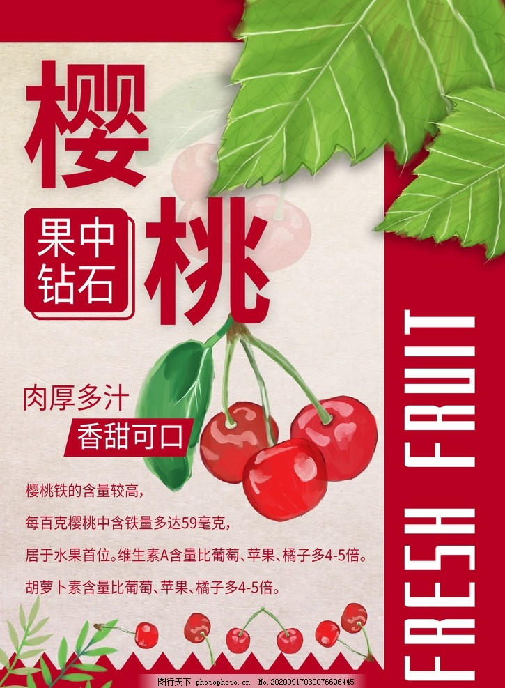 櫻桃采摘,新鮮櫻桃,櫻桃節,櫻桃海報,櫻桃背景,櫻桃展板,櫻桃采摘季